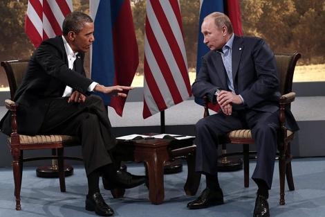 Encuentro entre Barack Obama y Vladímir Putin.| Reuters