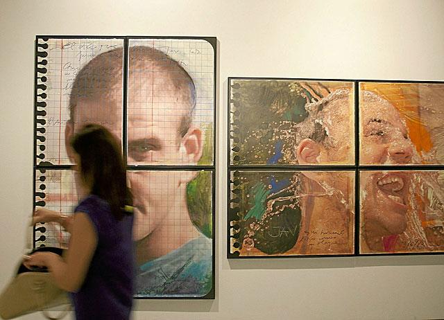 Algunas de las obras que componen la exposición 'Seré tu voz, eres mi luz'. | Conchitina
