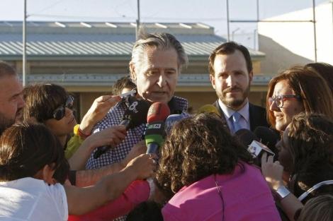 Blesa, a su salida de la cárcel de Soto del Real (Madrid).   Efe