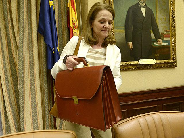 La secretaría de Estado de Educación, Montserrat Gomendio, antes de la comparencia en el Congreso. | Bernardo Díaz
