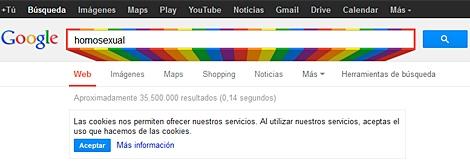 Así 'luce' este mes la caja de resultados de Google.