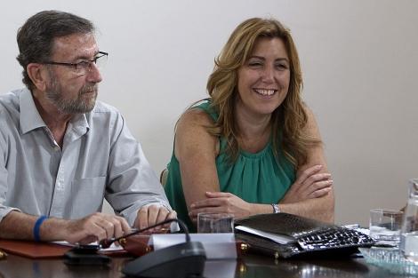 La consejera de Presidencia, Susana Díaz, en la Ejecutiva del PSOE-A. | Efe