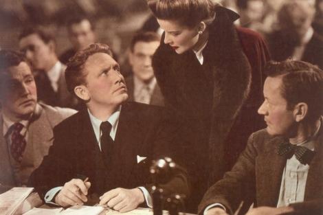 La actriz, junto a Spencer Tracy. [VEA MÁS FOTOS]