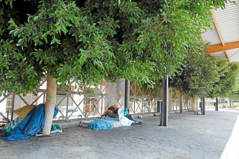 Solo quedan dos 'sin techo' en el Parc de Ses Estacions. | Jordi Avellà