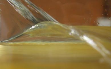 Recreación de una ola en laboratorio.   UC3M