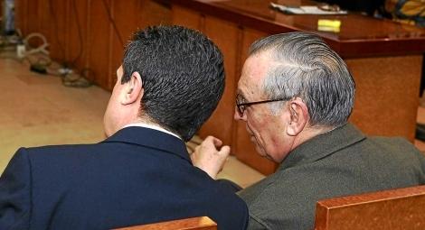 Matas y Alemany durante el juicio en 2012