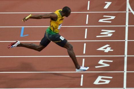 Usain Bolt en los Juegos Olímpicos de Londres 2012. | AFP