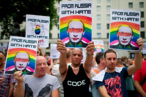 Un grupo de manifestantes en Londres. | Afp