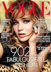 Portada de la revista, con la actriz Jennifer Lawrence