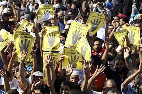 Seguidores de los Hermanos Musulmanes, el viernes. | Reuters