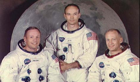 Neil Armstrong, Michael Collins y Buzz Aldrin, los astronautas que viajaron a la Luna.| NASA