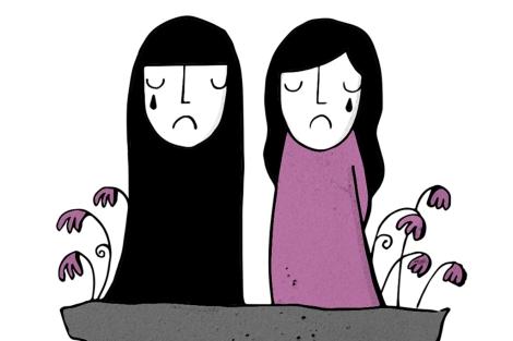Detalle de uno de los dibujos realizados por Milena Jarjour.