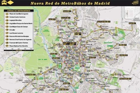 Mapa del Metrobúho