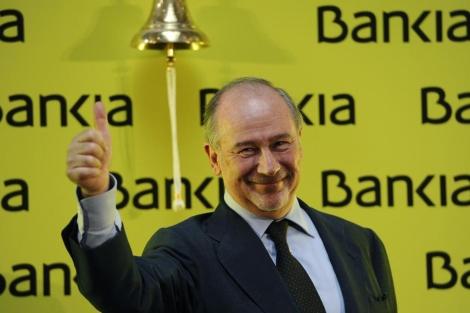 Rodrigo Rato, el día del debut en Bolsa de Bankia. | Afp