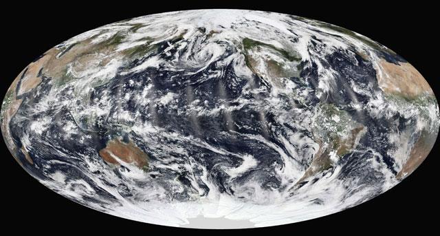 Imagen de la Tierra captada por satélites de la NASA. | Efe