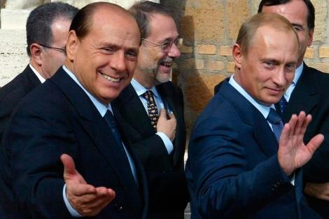 Silvio Berlusconi y Vladimir Putin, en una foto de archivo. | Afp
