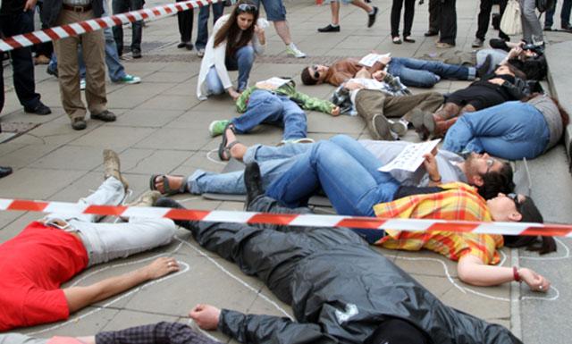 Protesta contra la impunidad en Bulgaria. | ©AI