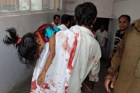 Imagen de una víctima del atentado