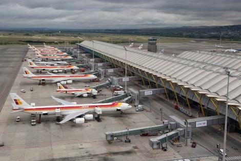 Aviones Iberia en el aeropuerto de Barajas | Alberto Cuellar