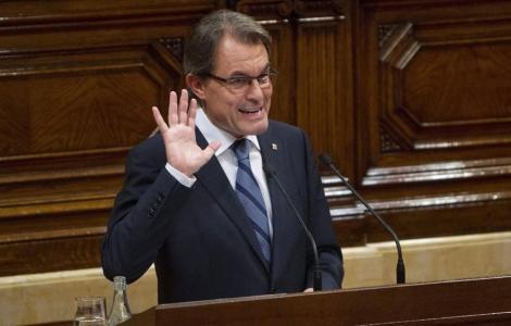 El president de la Generalitat durante su discurso. | Jordi Soteras