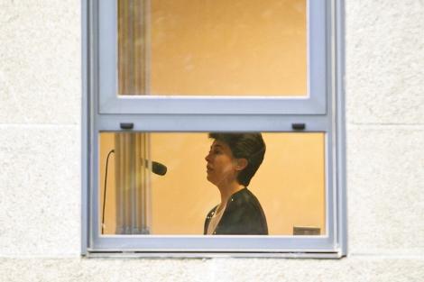 Rosario Porto, durante su declaración. | AFP