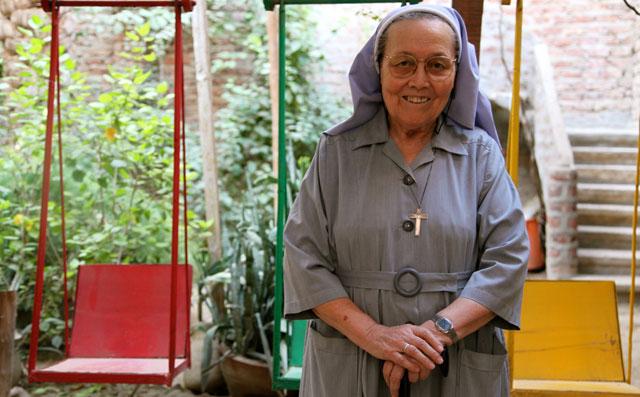 Adela Blanes, en la guardería de su congregación. | Francisco Carrión