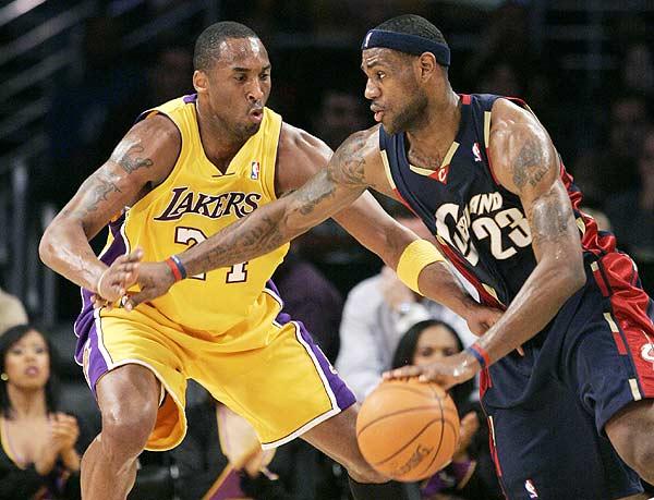 Kobe Bryant contro Lebron James