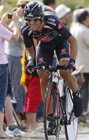 Valverde, en la última contrarreloj del Tour. (Foto: EFE)