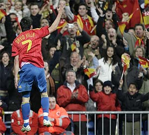 Debuta España en la Eurocopa 2008. Fútbol