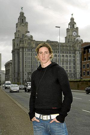 Fernando Torres, en el centro de Liverpool. (Foto: Fernando Mañoso)
