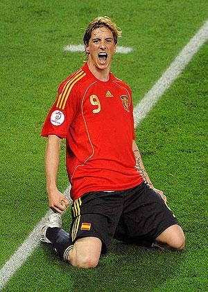 Fernando Torres, celebrando el gol ante Alemania en la final de la Eurocopa. (FOTO:EFE)