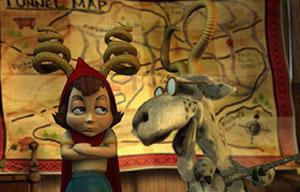 Imagen de la película 'La increíble, pero cierta historia de la caperucita roja'.