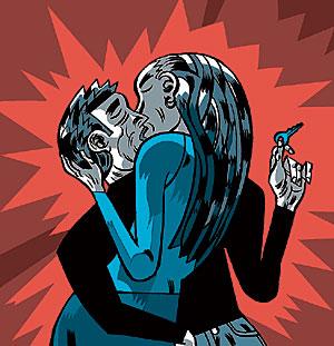 Una pareja besándose. (Foto: Snowbound)