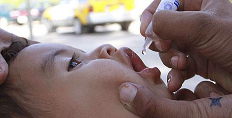 Campaña de vacunación en Afganistán.  EFE   Jalil Rezayee