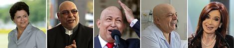 Imagen de los cinco políticos afectados. | Efe