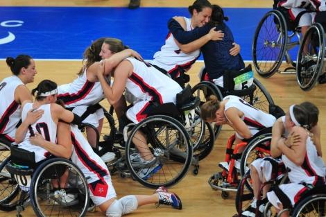 Selección femenina estadounidense de baloncesto en silla de ruedas. Federic J. Brown | Afp
