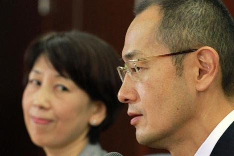 Shinya Yamanaka durante la ruedad de prensa. | Afp