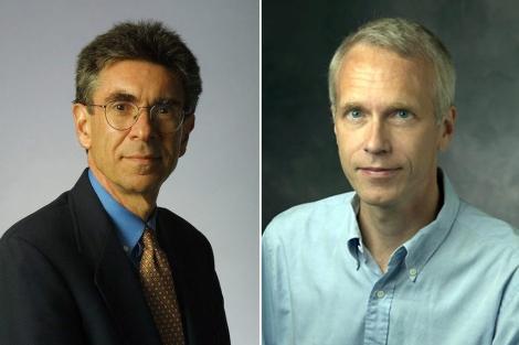 Robert J. Lefkowitz, a la izquierda, y Brian Kobilka, premios Nobel de Química 2012. | Efe