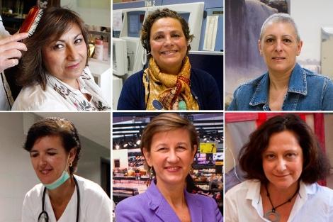 Algunas de las protagonistas que han relatado su experiencia en primera persona.| El Mundo