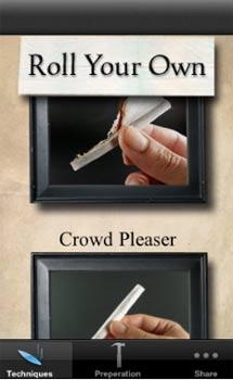 Una aplicación que enseña a enrollar un cigarrillo.