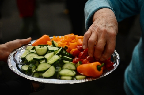 Un plato con vegetales. | Afp