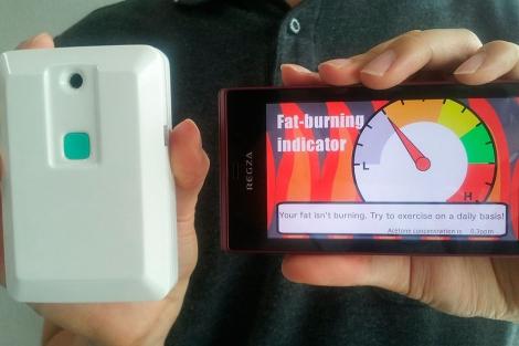 Una imagen del sensor medidor de acetona en aliento.| EM