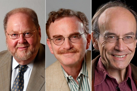 De izda a dcha: James Rothman, Randy Schekman y Thomas Südhof.| EM