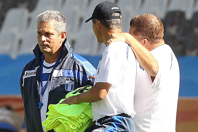 Reinaldo Rueda (i), en un entrenamiento. (Foto: EFE)