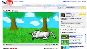 Ejemplo del nuevo tamaño del reproductor de Youtube