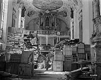 Saqueos masivos.Miles de objetos robados, encontrados en distintos puntos de Alemania, fueron repatriados a Francia después de la guerra.