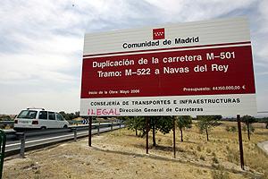 Imagen de las obras de la carretera de los pantanos (Foto: Bernabé Cordón)