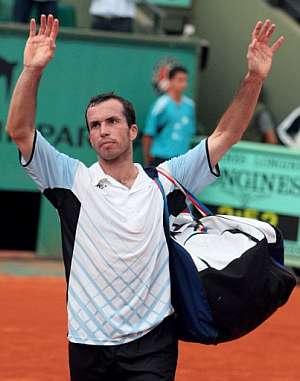 Radek Stepanek, tras perder con el español David Ferrer. (Foto: AFP)
